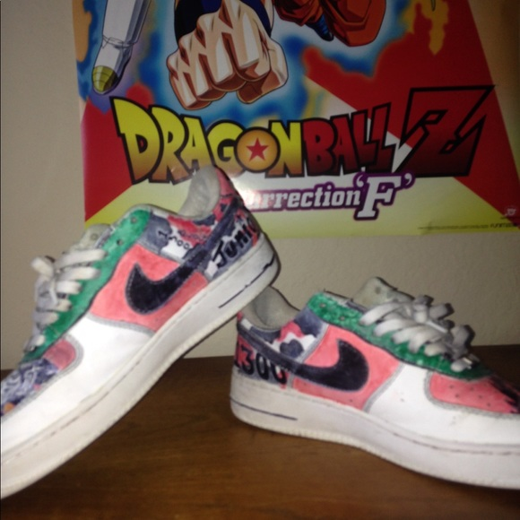 Nike air force 1 customized by hand DBZ Theme 1300